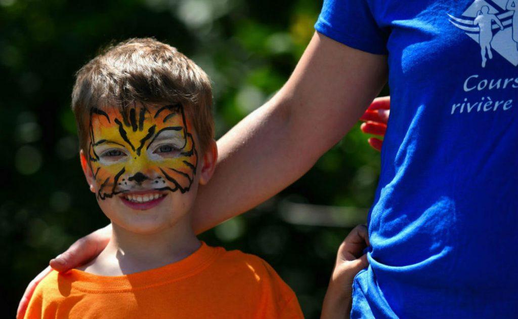 Enfant maquillé course de la rivière Ouelle