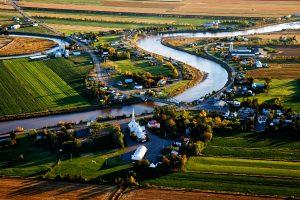 Vue aérienne de Rivière-Ouelle par Nicolas Gagnon